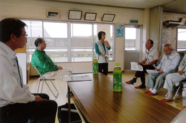地域の事は自分たちでと話す藤山会長