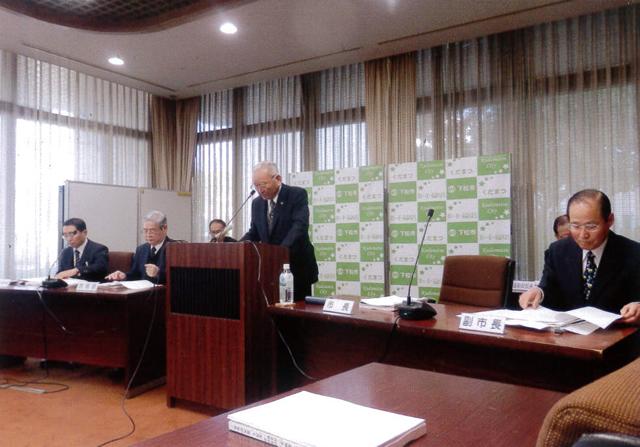 井川市長、施政方針発表