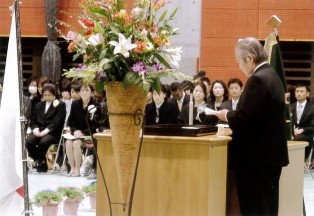 武内教育長代行の祝辞