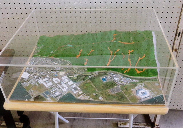 豊井地区・大谷渓谷の模型