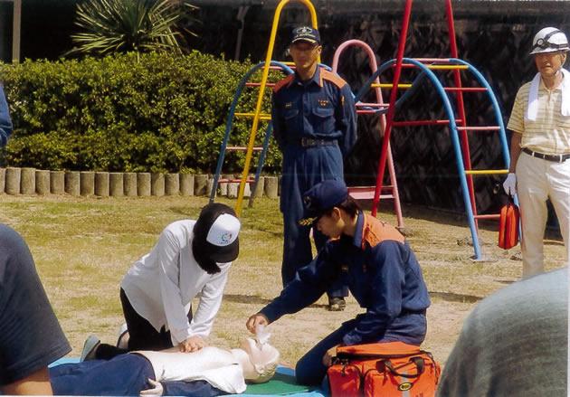 AEDの実演