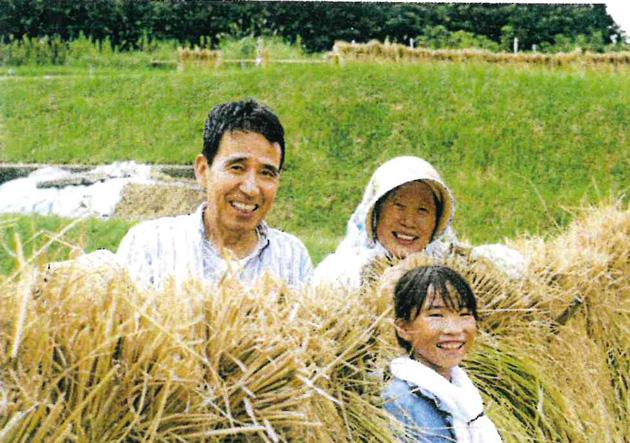 入選 「じいちゃんの田んぼで初めての稲刈り」