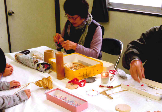 ホタルかご・竹トンボの作り方教室