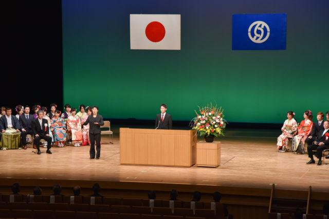 開式の言葉、内山咲紀さん