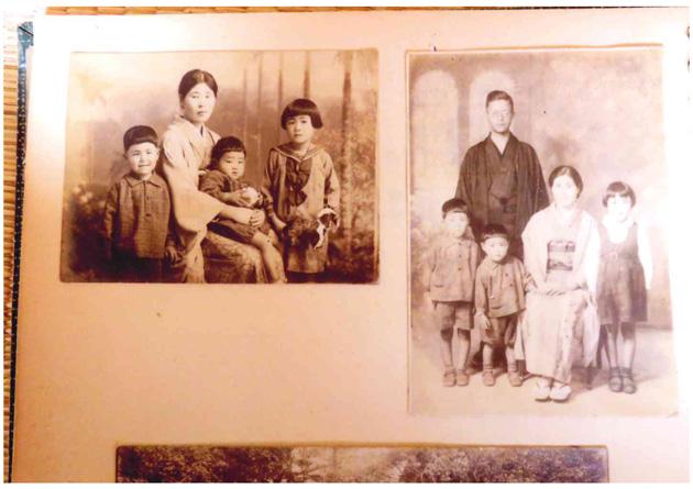 台湾での家族写真