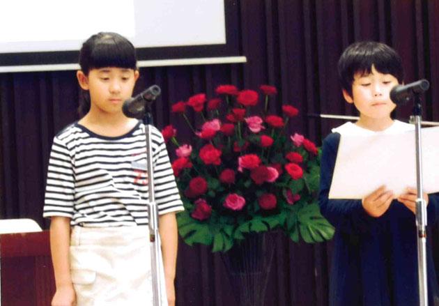 小学生のジュニアソムリエ