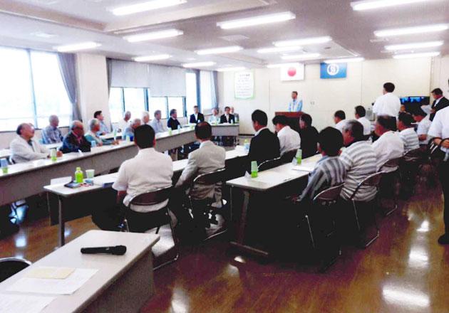 市役所5階会議室での総会風景