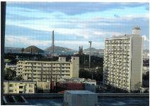 病室から見える徳山湾