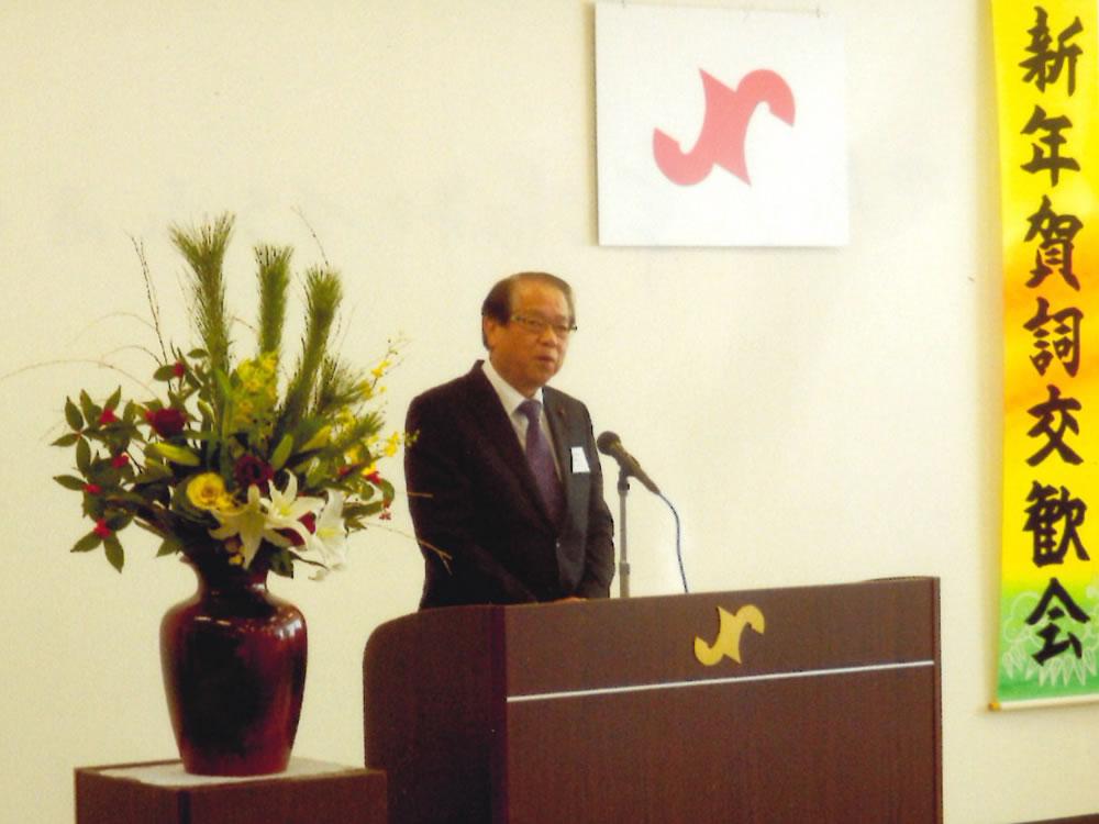 市民憲章唱和する永田さん