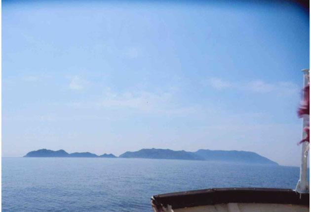 連絡船から見た八島