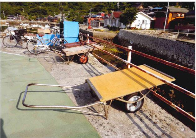 牛島の荷車