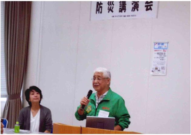 今治会長と気象予報士の坂本京子さん