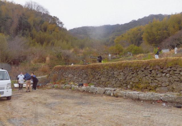 島には石垣の段々畑が多くある