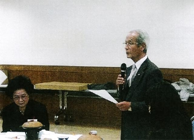 事務報告する中村副会長