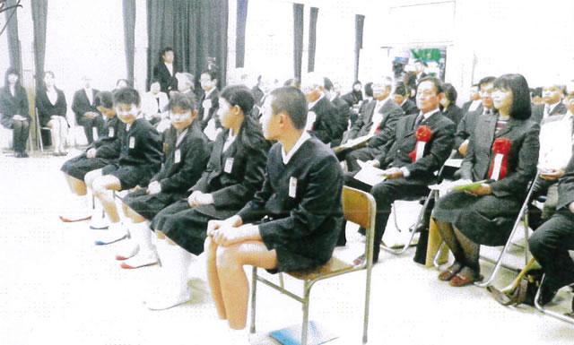 笠戸小の5人の在校生