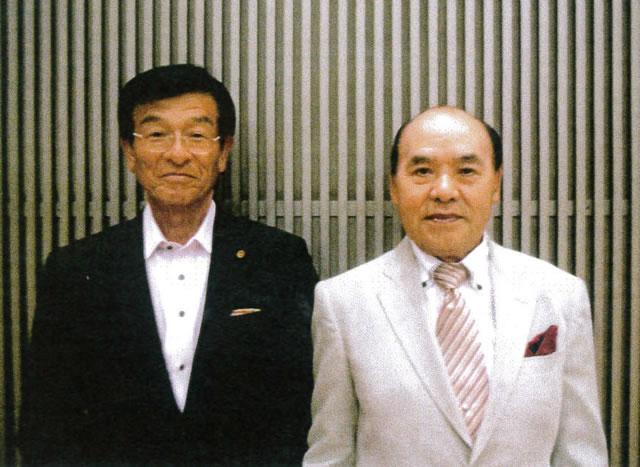会長表彰 金藤哲夫氏 知事表彰 山内務氏