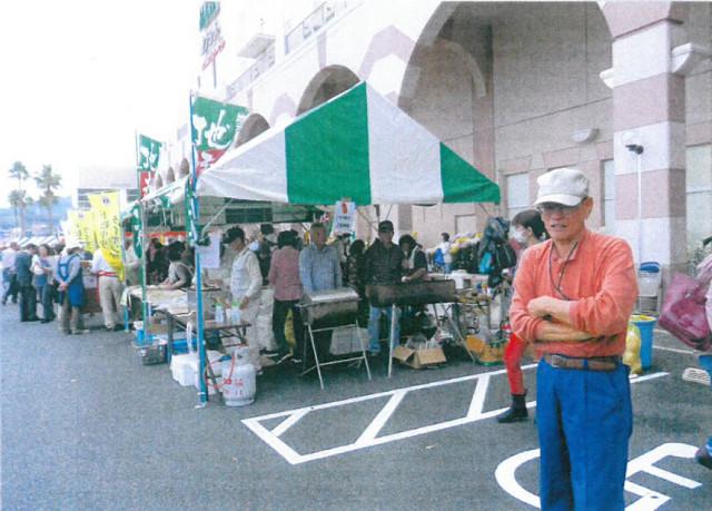 笠戸島から来た海産物も売切れ