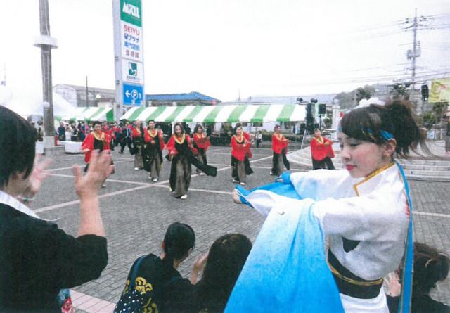 県内から  ヨサコイチーム競演