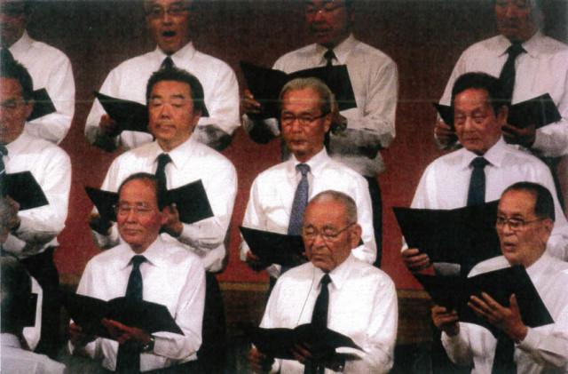 井川市長もきらぼし男声合唱団に出場