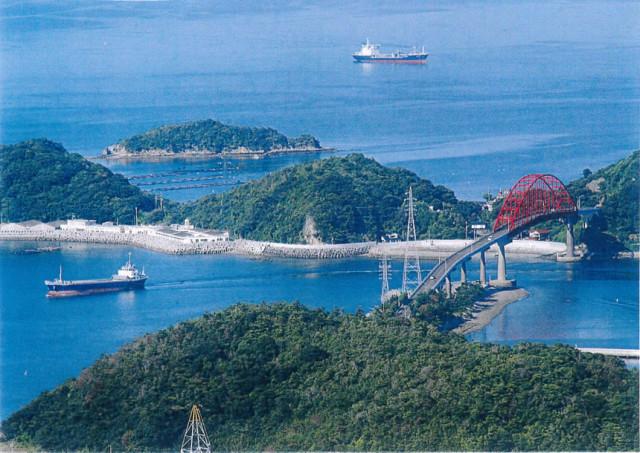 茶臼山より笠戸大島を眺む