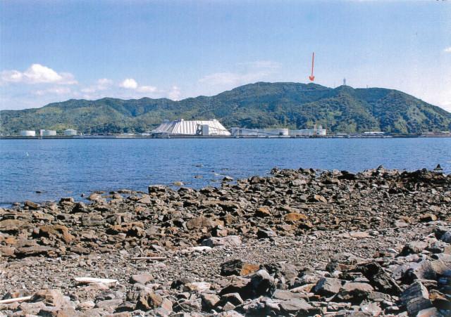 笠戸島より茶臼山を望む