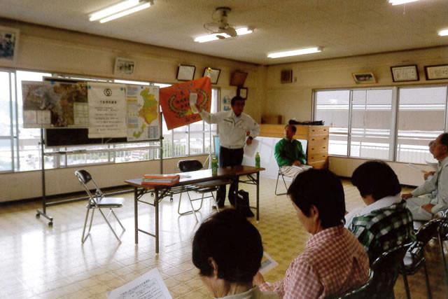 下松市危機管理室の伊藤さんの説明