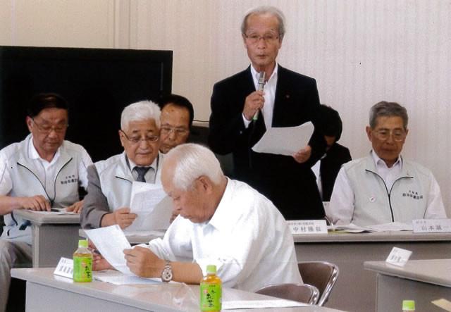 中村副会長が事業報告する