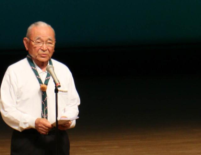 下松市井川市長歓迎のあいさつ