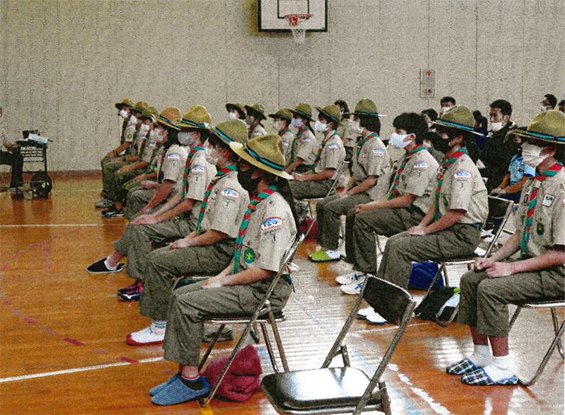 全員マスクで集合